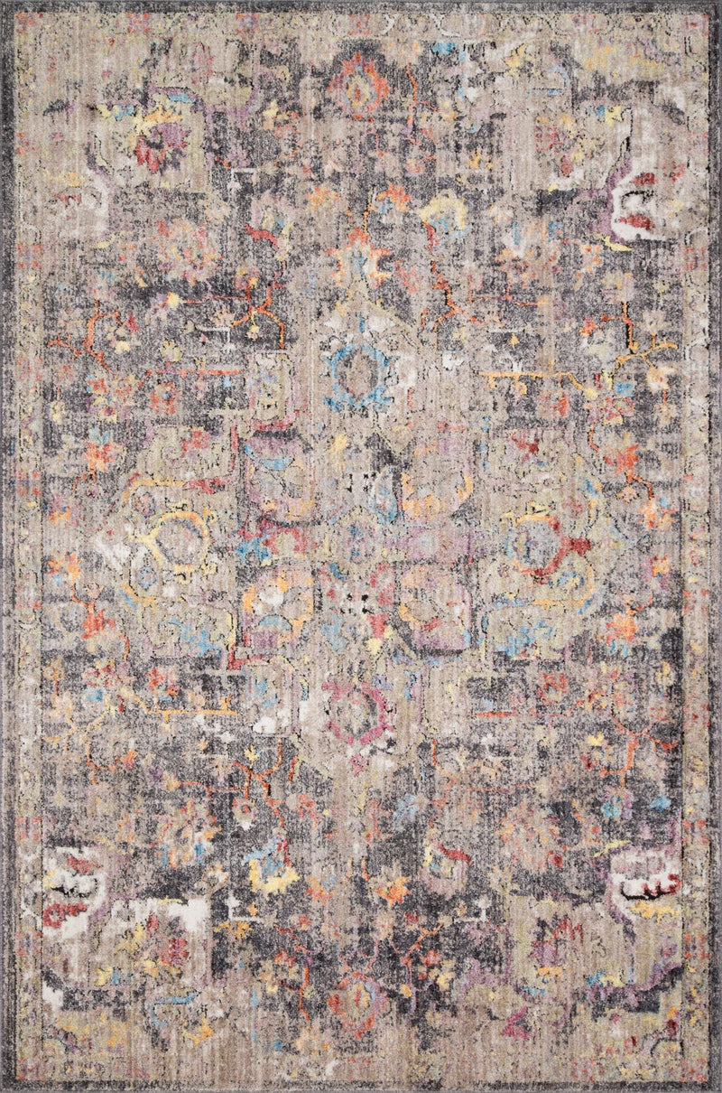 EMORY Collection Rug  in  HEATHER GRAY / BLACK