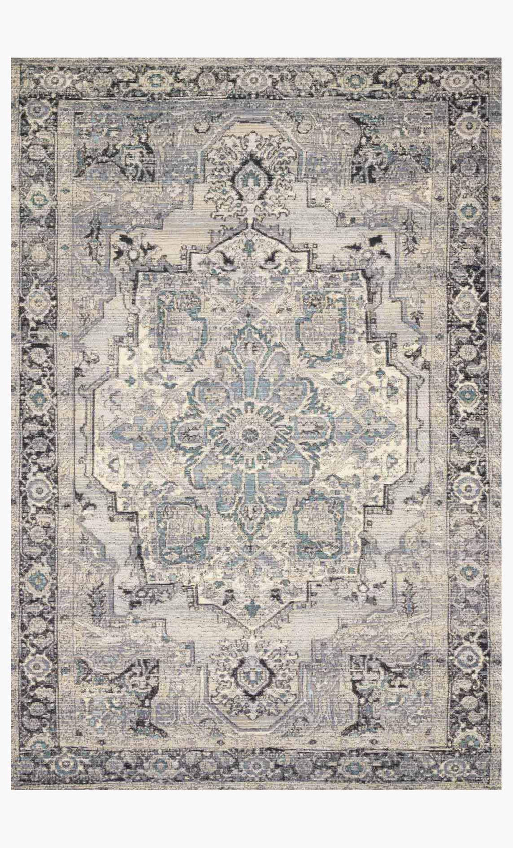 MIKA Collection Rug in GREY / BLUE