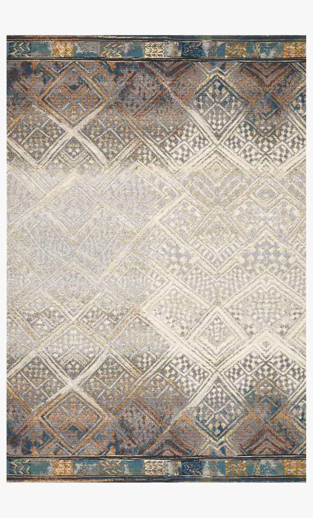 MIKA Collection Rug in IVORY / MEDITERRANEAN