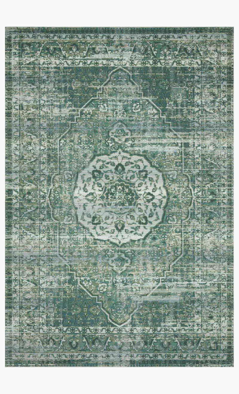 MIKA Collection Rug in GREEN / MIST