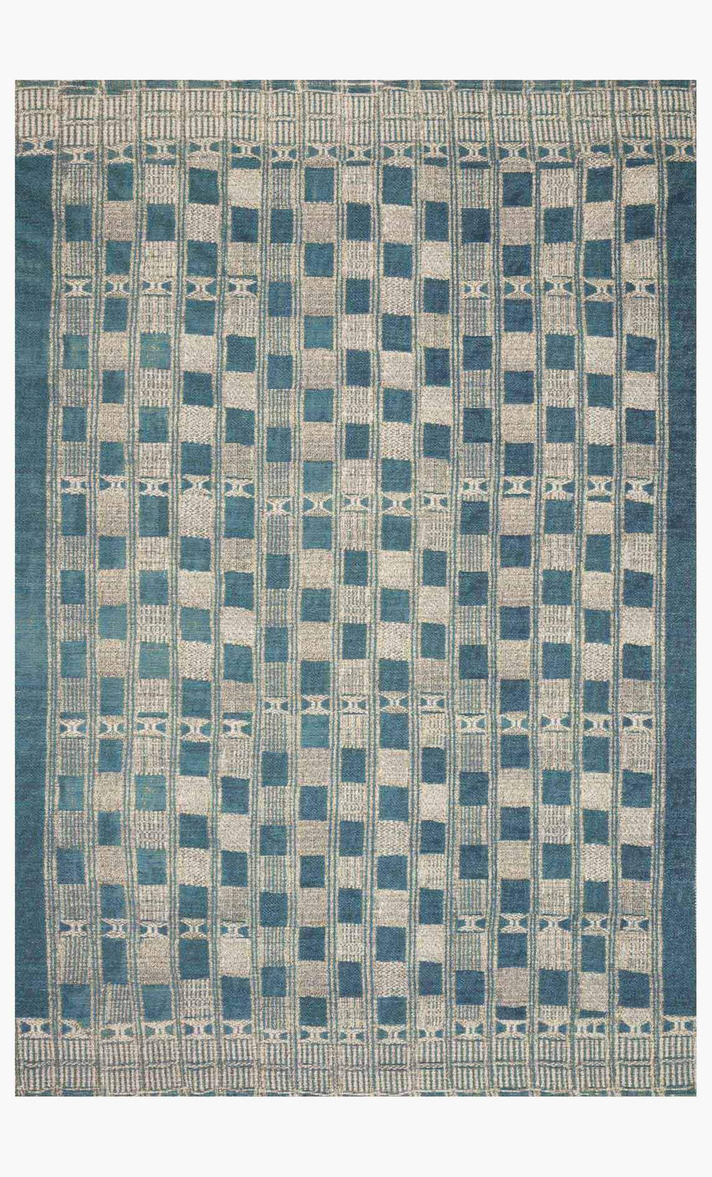MIKA Collection Rug in BLUE / IVORY