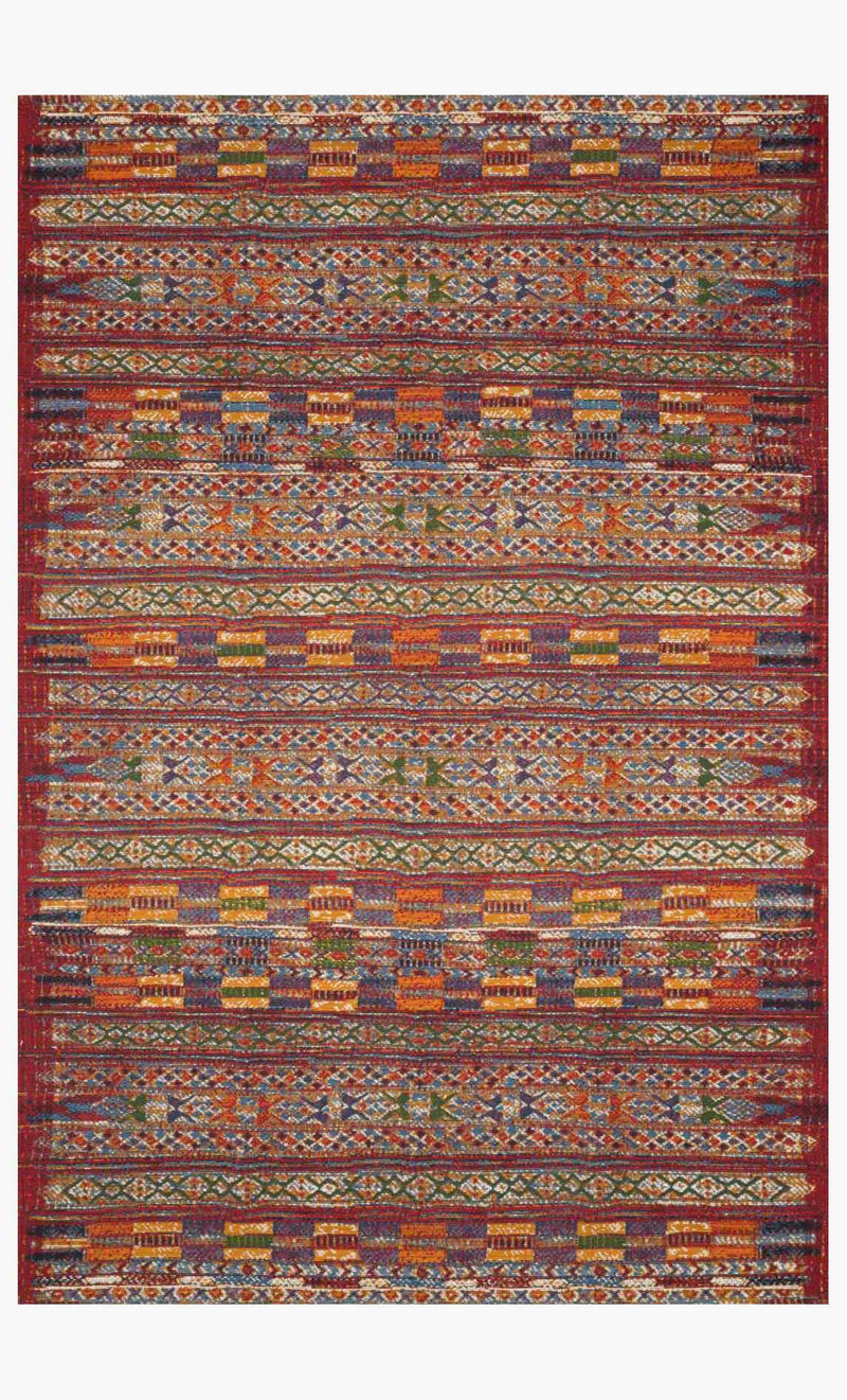 MIKA Collection Rug in RED / MULTI