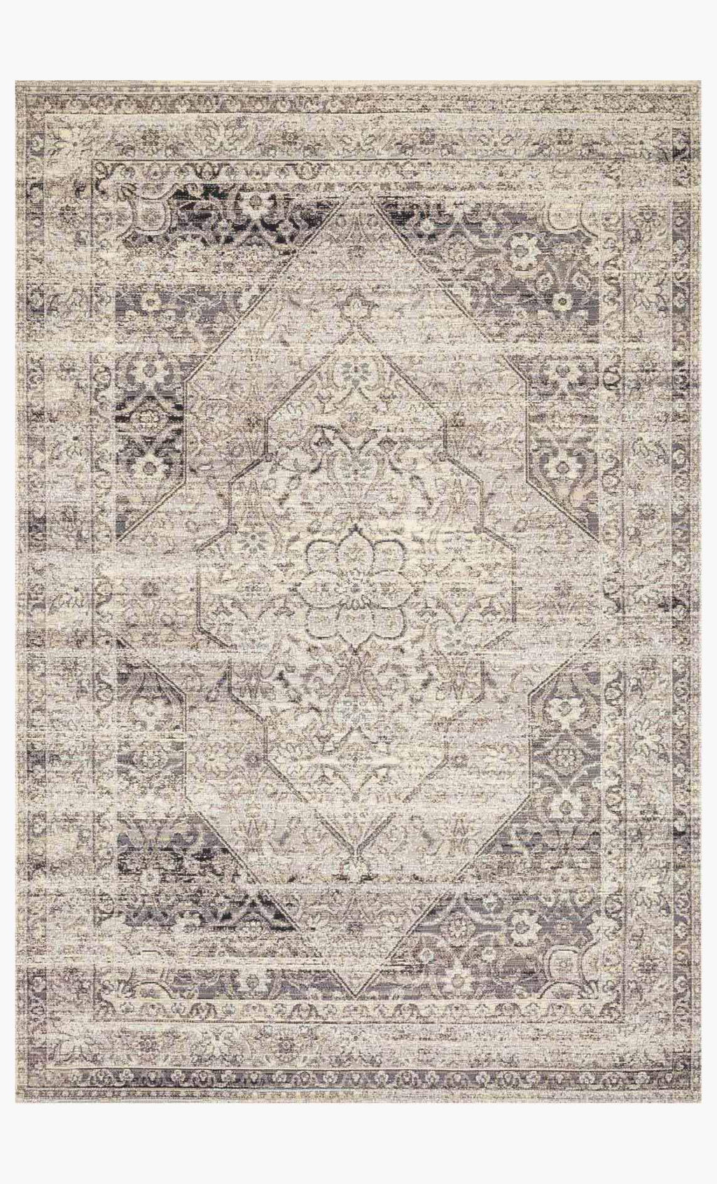 MIKA Collection Rug in STONE / IVORY