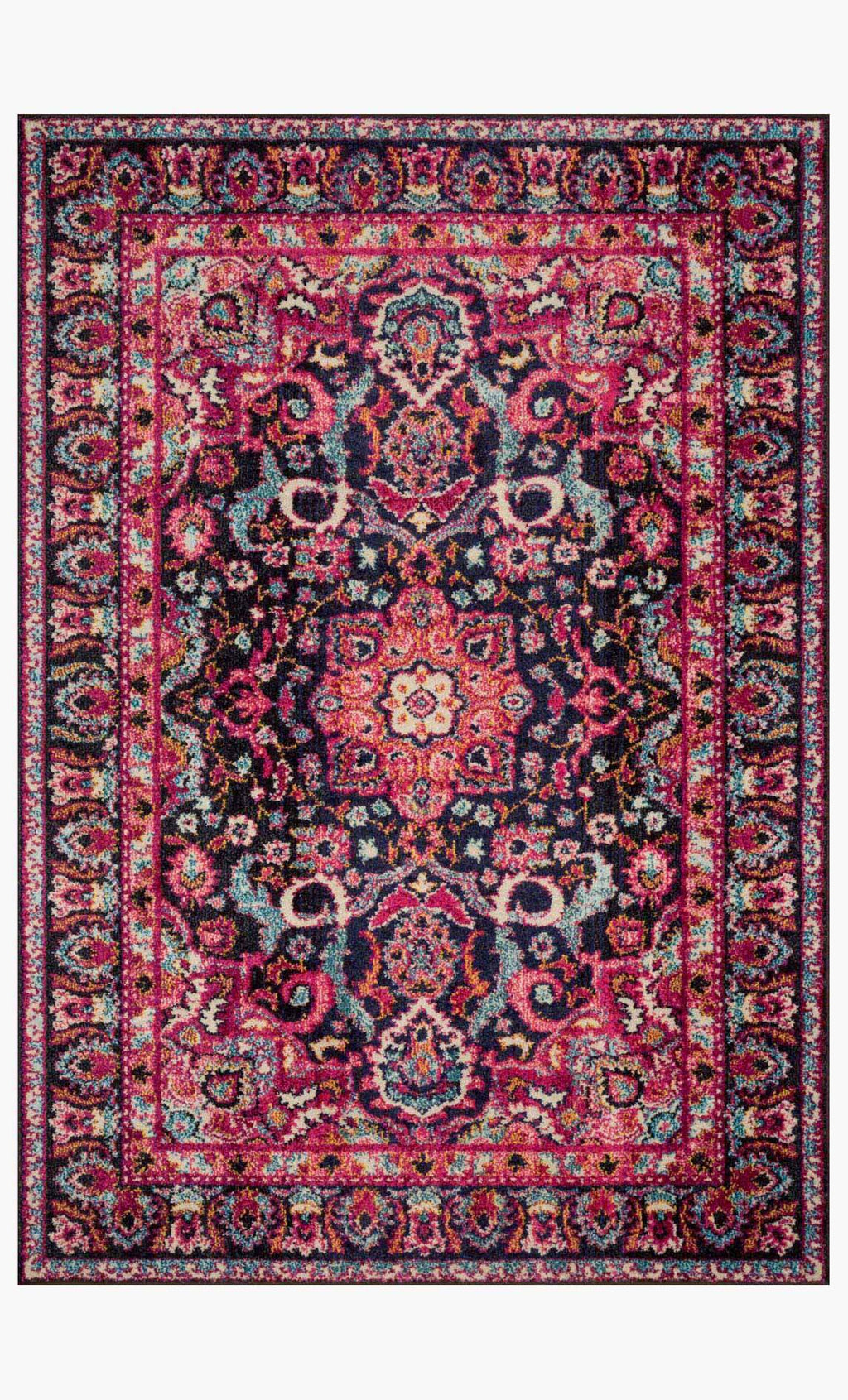 NADIA Collection Rug in MIDNIGHT / PINK