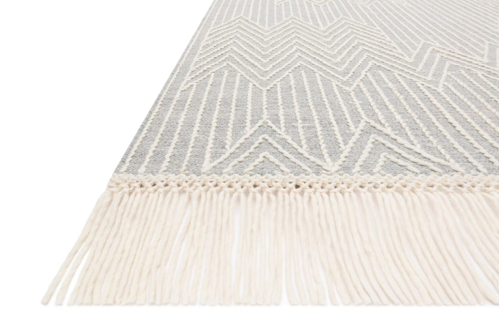 NEWTON Collection Rug  in  LT GREY / IVORY Gray Accent Hand-Tufted Viscose
