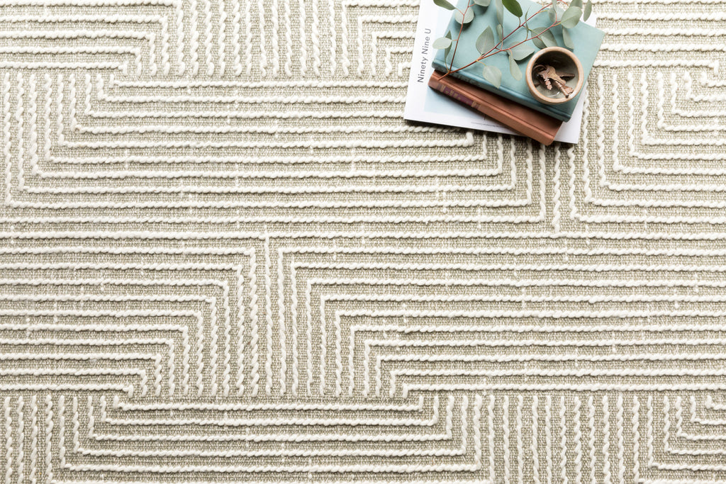 NEWTON Collection Rug  in  SAGE / IVORY Green Accent Hand-Tufted Viscose