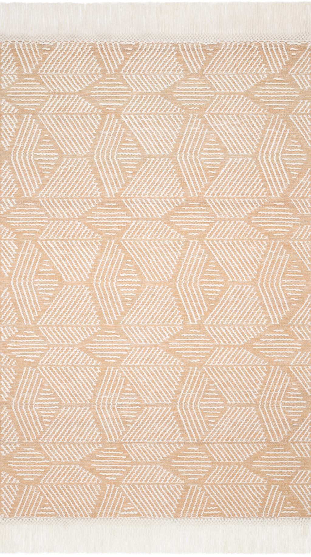 NEWTON Collection Rug  in  BLUSH / IVORY Red Accent Hand-Tufted Viscose