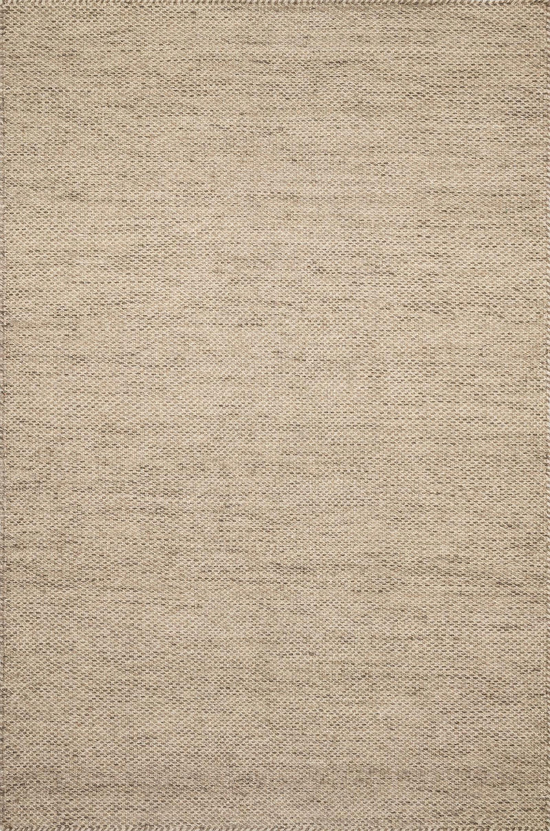 OAKWOOD Collection Wool Rug  in  WHEAT Beige Small Hand-Woven Wool