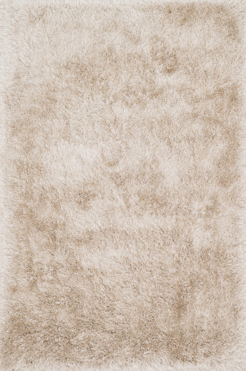 ORIAN SHAG Collection Rug  in  BEIGE Beige Small Hand-Woven Polyester