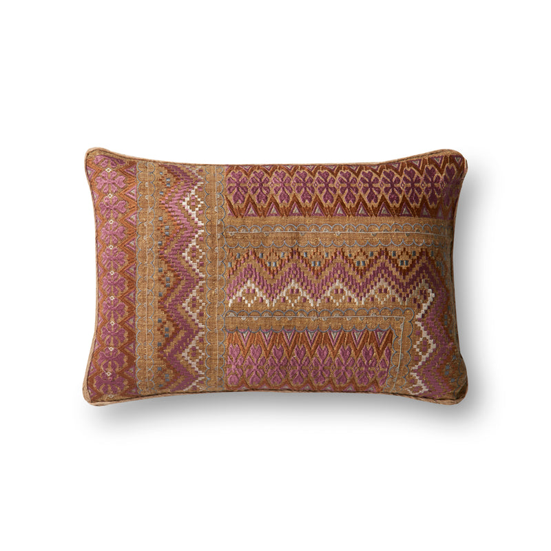 "100% Polyester 13"" x 21"" & 22"" x 22"" Pillow in BROWN / NATURAL"