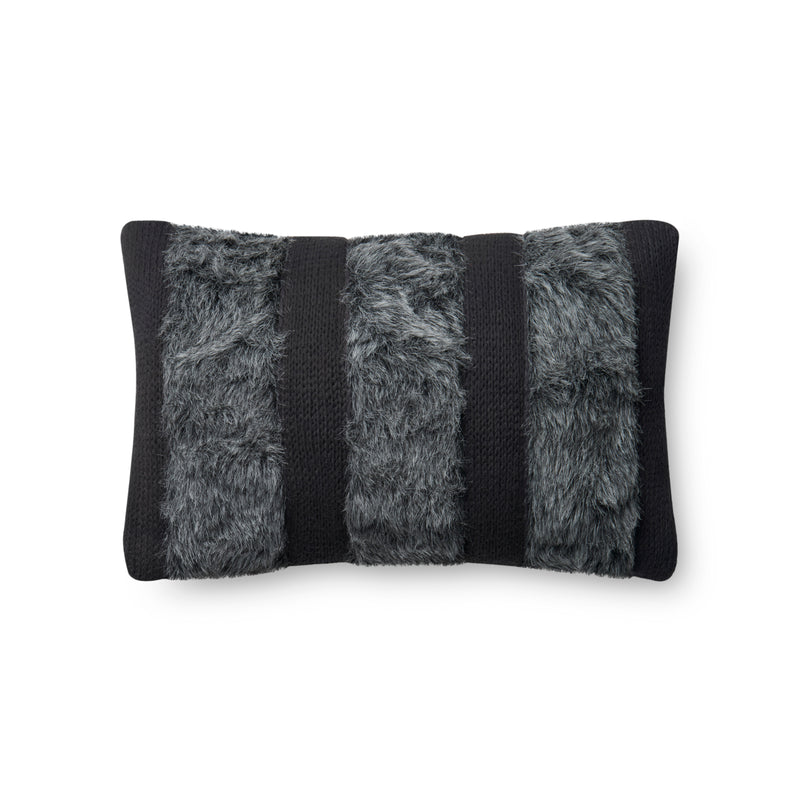 "100% Polyester 18"" x 18"" Pillow in BLACK / IVORY"