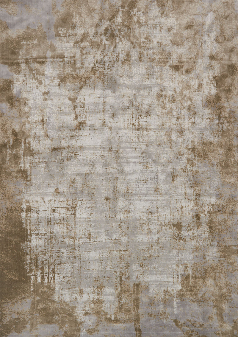 PATINA Collection Rug  in  WHEAT / GREY Beige Runner Power-Loomed Polypropylene/Polyester
