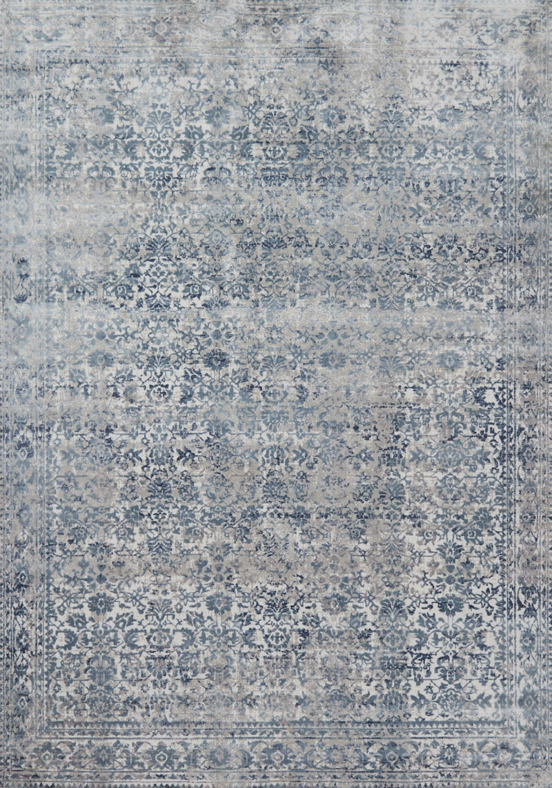 PATINA Collection Rug  in  SKY / STONE Blue Runner Power-Loomed Polypropylene/Polyester