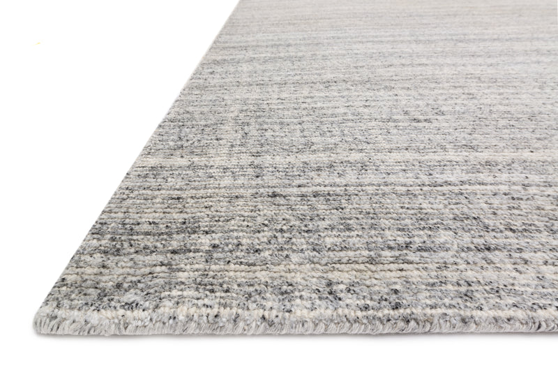 PORTER Collection Wool/Viscose Rug in Charcoal Gray Accent Hand-Loomed Wool/Viscose