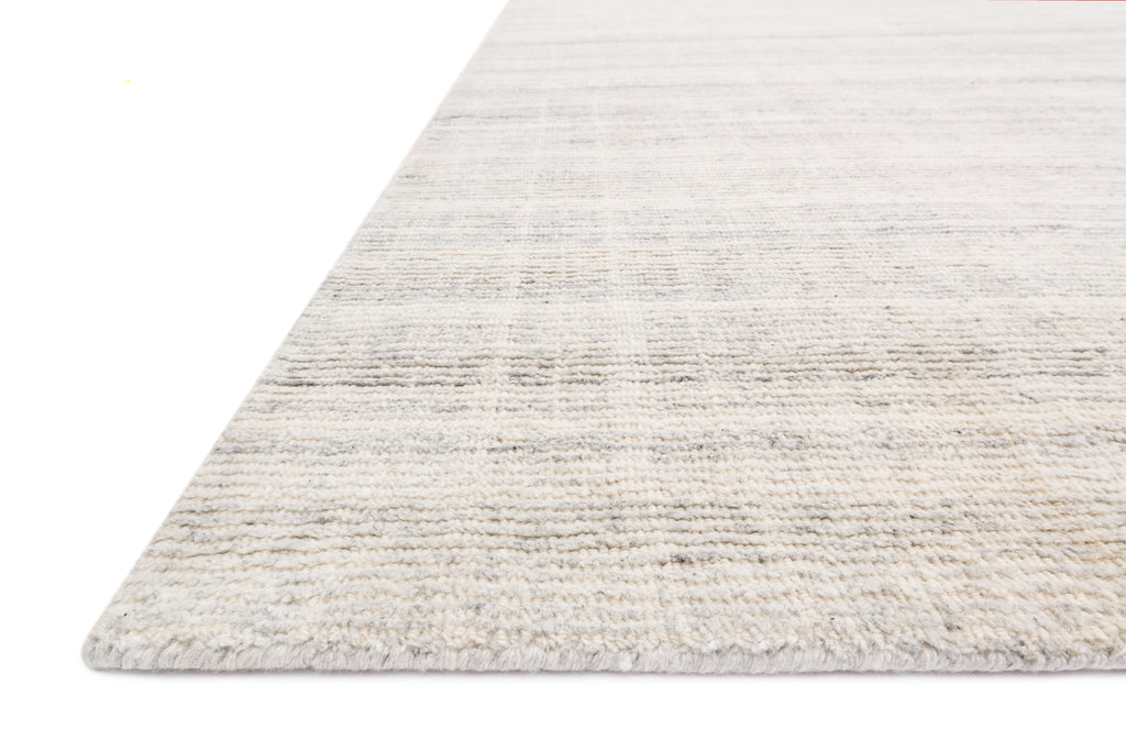 PORTER Collection Wool/Viscose Rug in Silver Gray Accent Hand-Loomed Wool/Viscose