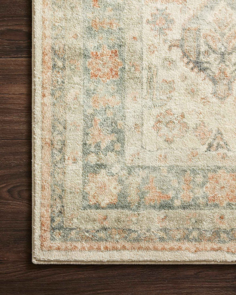 Rosette Collection Rug in Beige / Multi