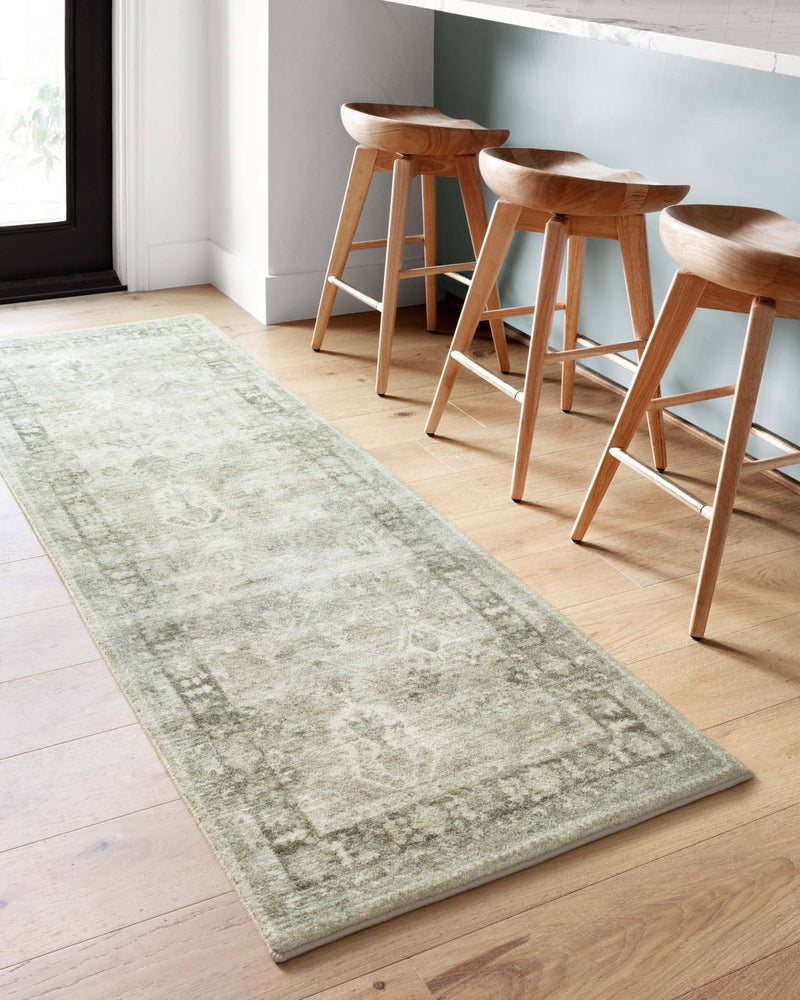 Rosette Collection Rug in Steel / Graphite