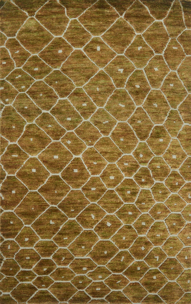 SAHARA Collection Rug  in  ELMWOOD Brown Medium Hand-Knotted Jute/Wool