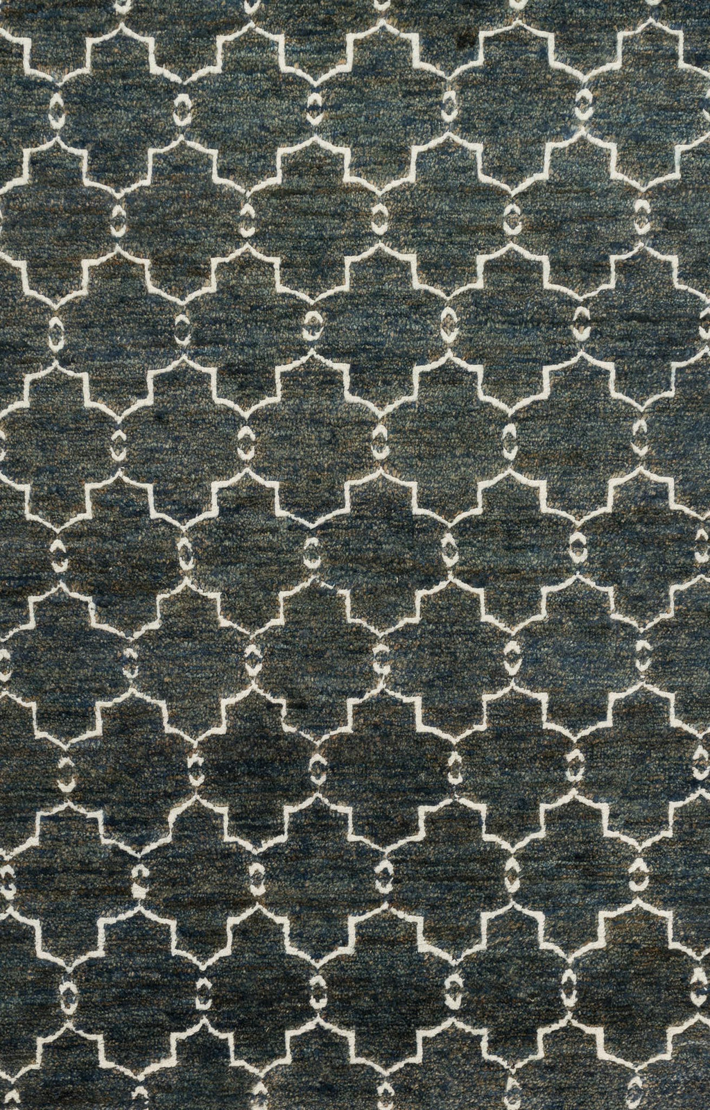SAHARA Collection Rug  in  MIDNIGHT Blue Small Hand-Knotted Jute/Wool