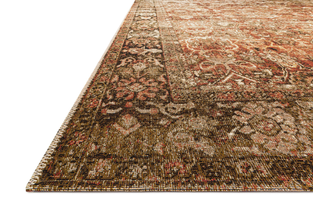 SEBASTIAN Collection Rug  in  RUST / TOBACCO Rust Accent Power-Loomed Jute/Wool