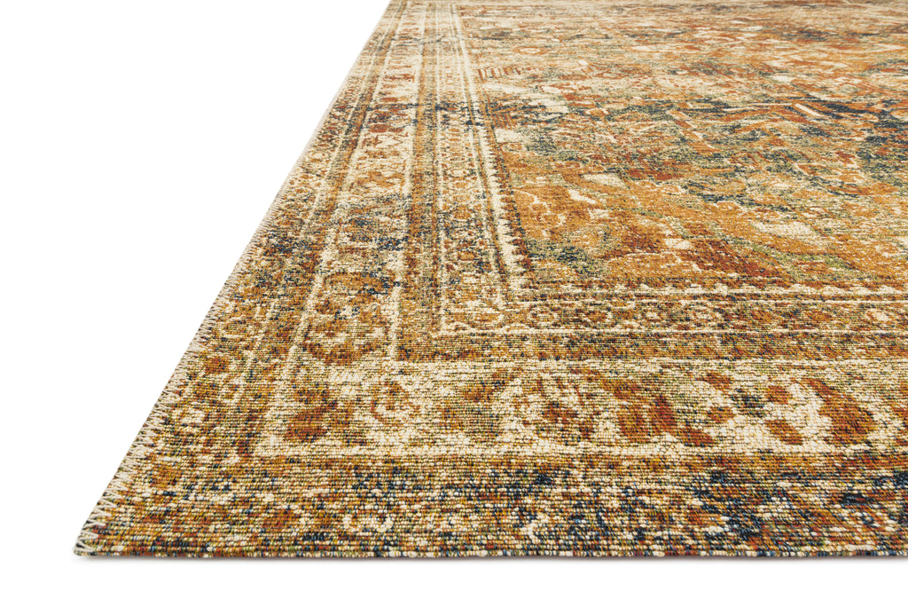 SEBASTIAN Collection Rug  in  LAGOON / SPICE Blue Accent Power-Loomed Jute/Wool
