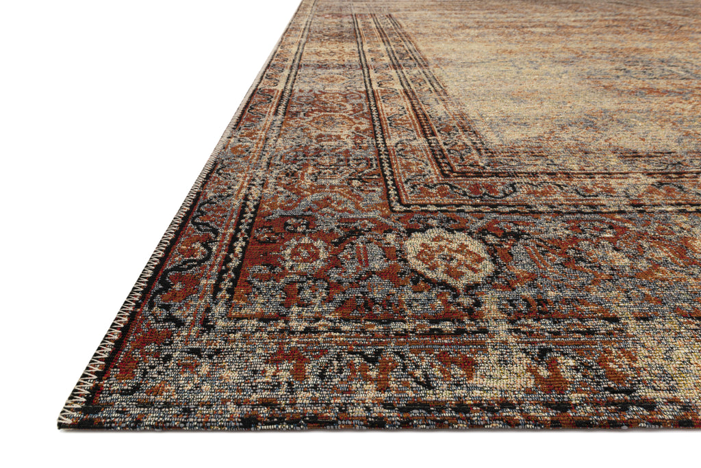 SEBASTIAN Collection Rug  in  NATURAL / BRICK Beige Accent Power-Loomed Jute/Wool