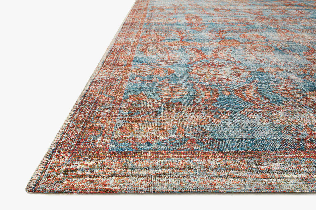 SEBASTIAN Collection Rug  in  Ocean / Spice Blue Accent Power-Loomed Jute/Wool