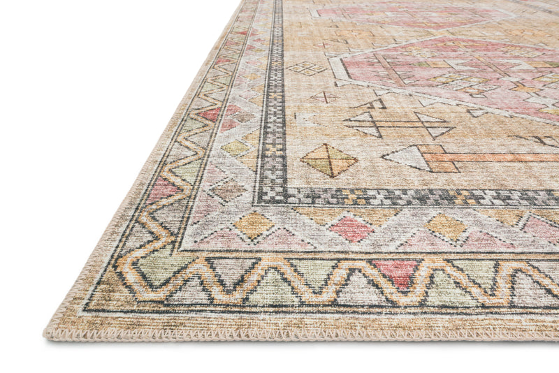 SKYE Collection Rug  in  GOLD / BLUSH Gold Accent Power-Loomed Polyester