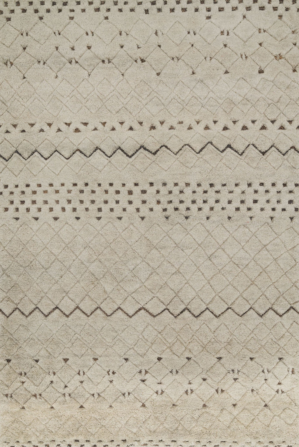 TANZANIA/HEMINGWAY Collection Rug  in  SAND Beige Small Hand-Knotted Jute/Wool