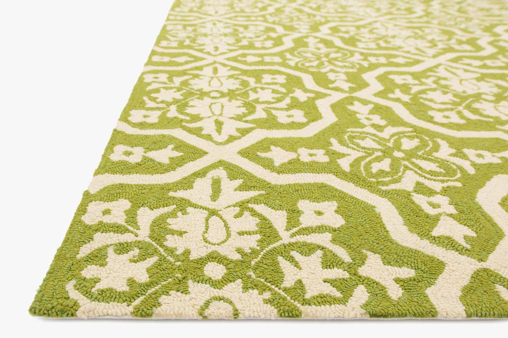 VENICE BEACH Collection Rug in PERIDOT / IVORY
