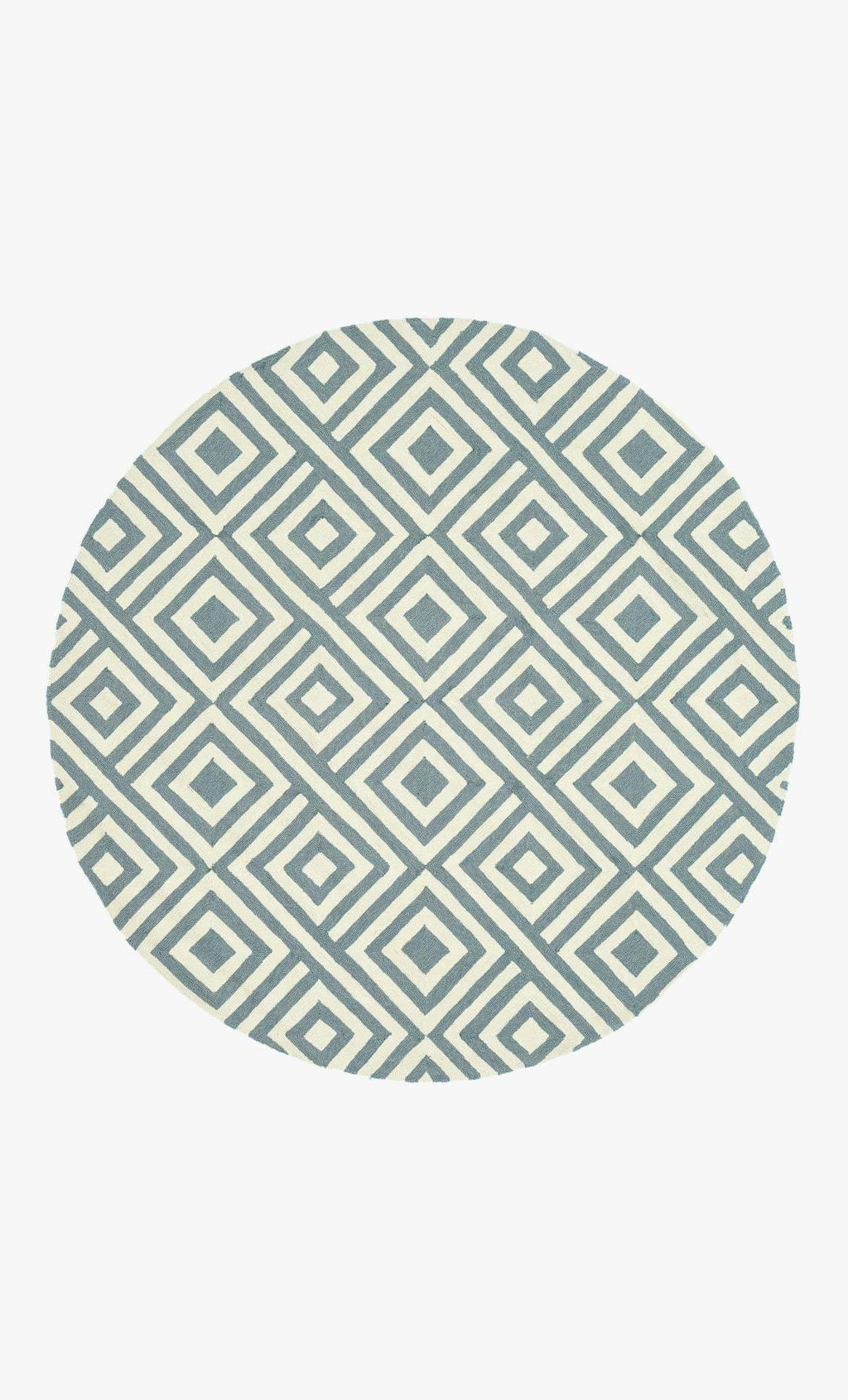 VENICE BEACH Collection Rug in SLATE / IVORY