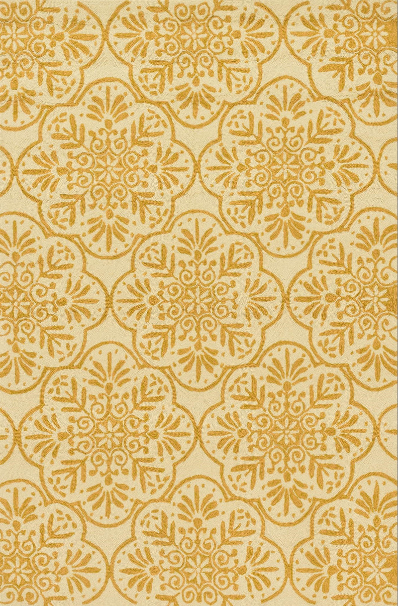 VENICE BEACH Collection Rug  in  IVORY / BUTTERCUP Ivory Small Hand-Hooked Polypropylene