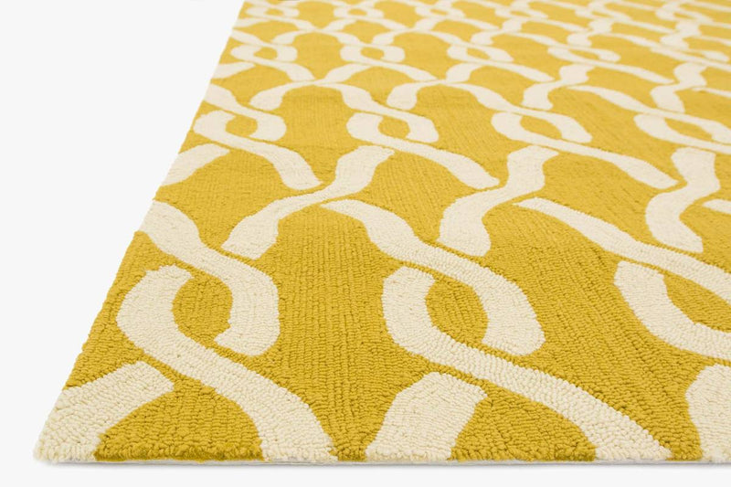 VENICE BEACH Collection Rug in GOLDENROD / IVORY