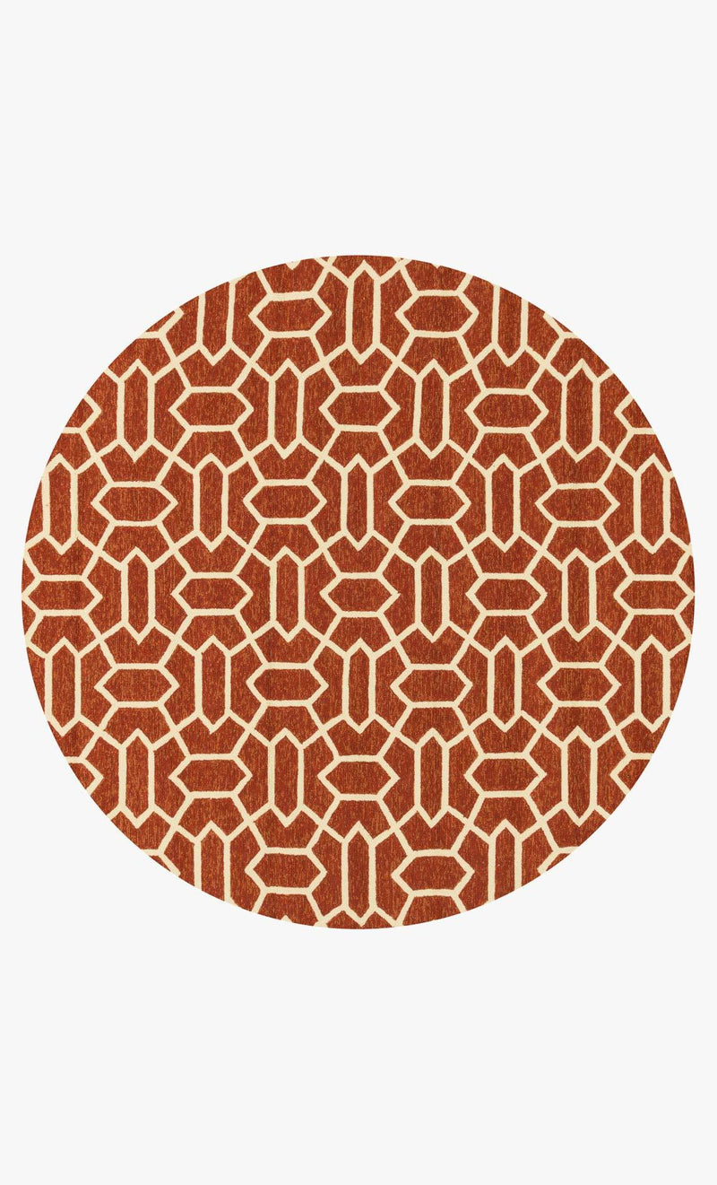 VENICE BEACH Collection Rug  in  RUST / IVORY