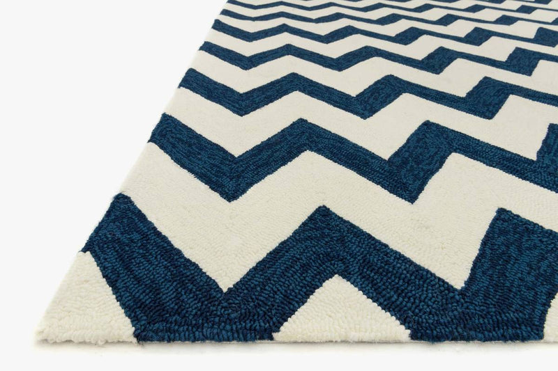 VENICE BEACH Collection Rug in IVORY / INK