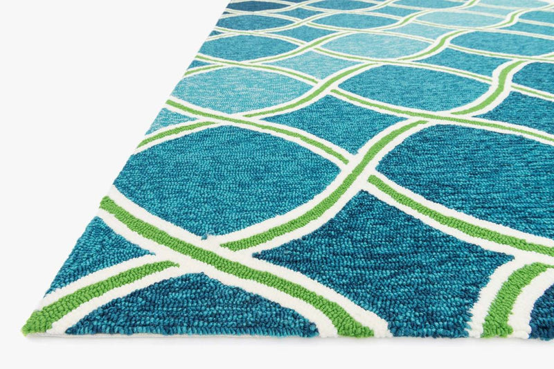VENICE BEACH Collection Rug in BLUE / GREEN