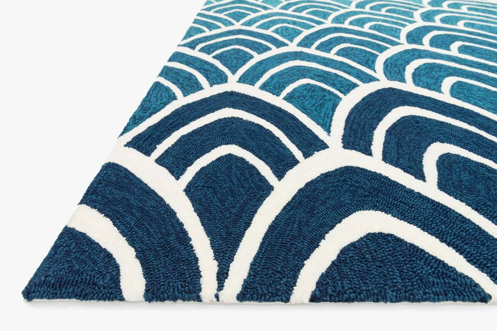 VENICE BEACH Collection Rug in BLUE / MULTI