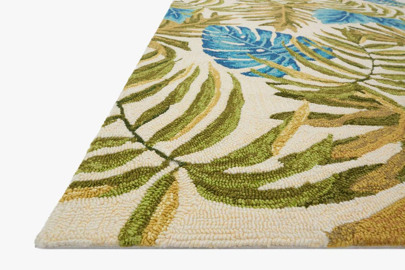 VENICE BEACH Collection Rug in IVORY / GREEN