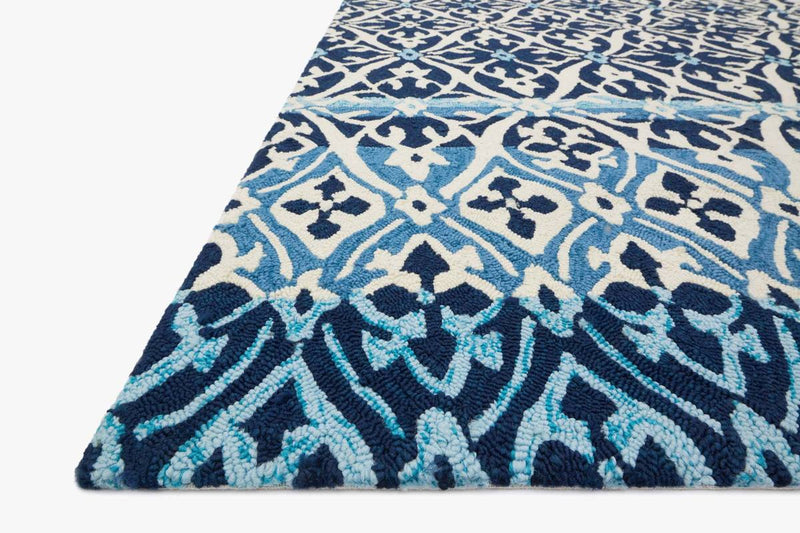 VENICE BEACH Collection Rug in BLUE / IVORY