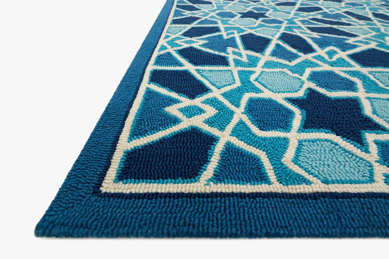 VENICE BEACH Collection Rug in LIGHT BLUE / NAVY