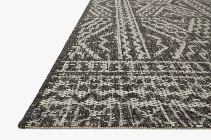 WARWICK Collection Rug in BLACK / SILVER