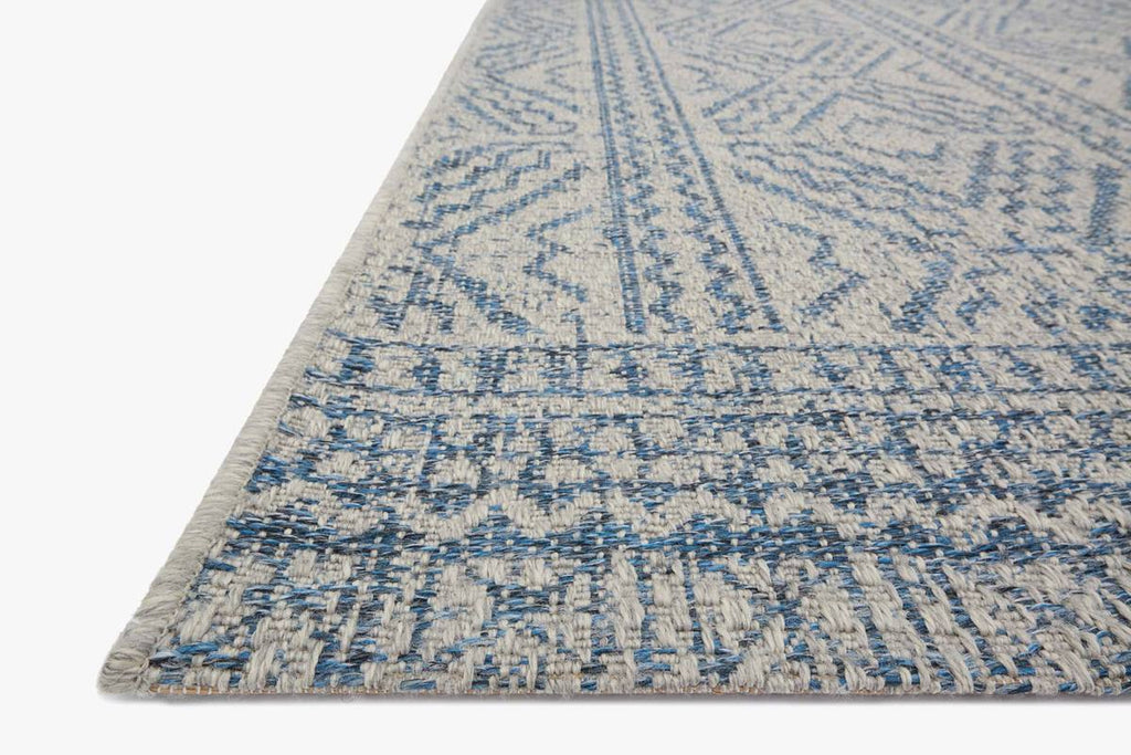 WARWICK Collection Rug in SILVER / AZURE
