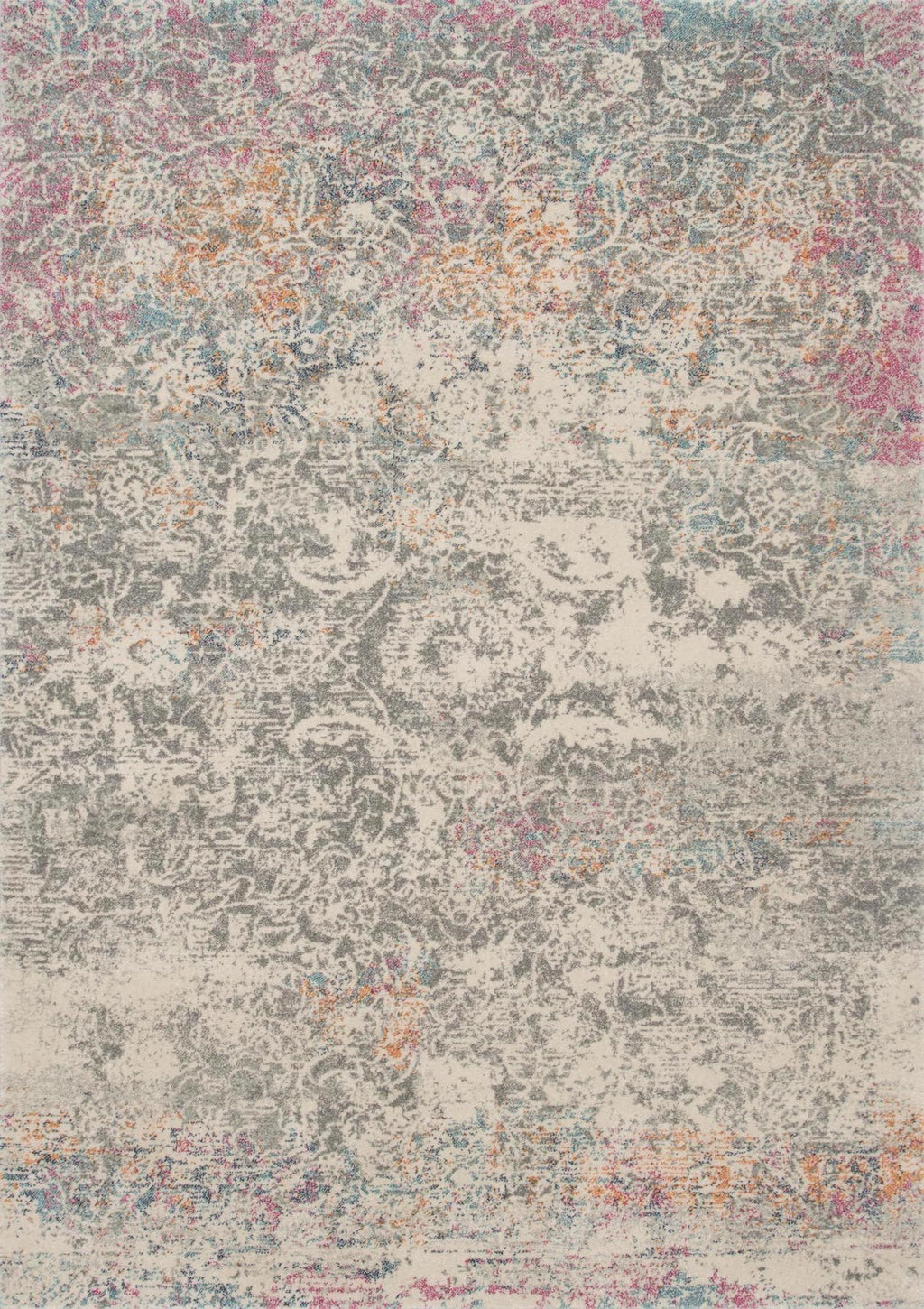 ZEHLA Collection Rug  in  GREY / MULTI Gray Runner Power-Loomed Polypropylene