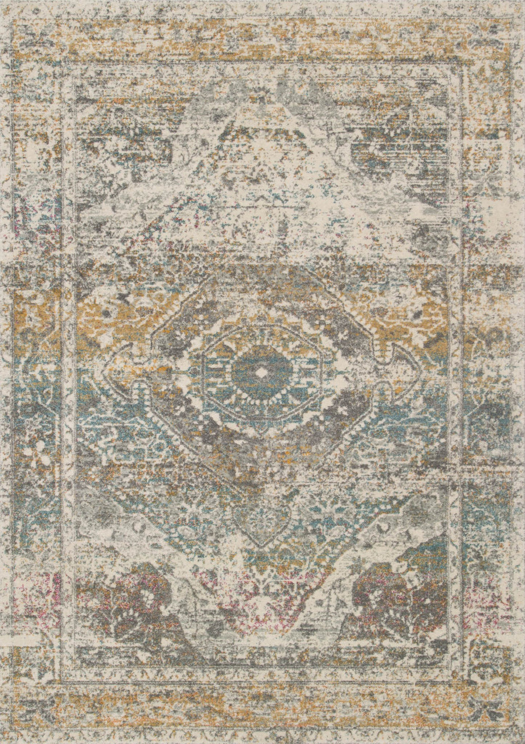 ZEHLA Collection Rug  in  STONE / STONE Gray Runner Power-Loomed Polypropylene