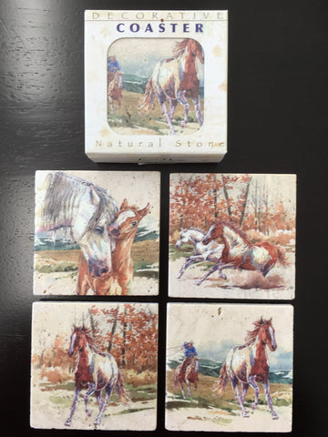 Wild Mustang: Stone Coasters