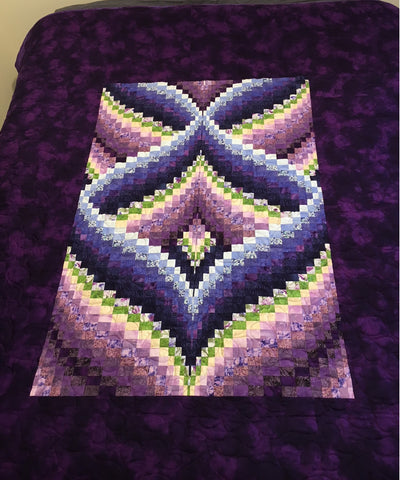Quilt - Stunning Purple Bargello Queen Size Quilt