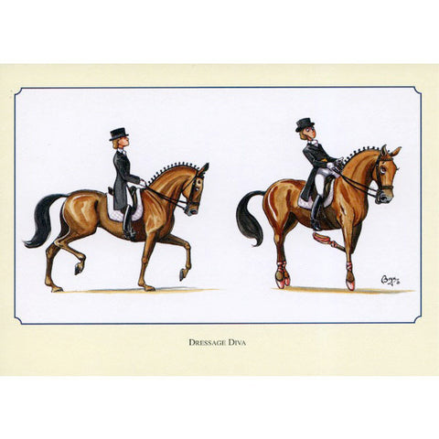 THELWELL: Dressage DIVA Note cards