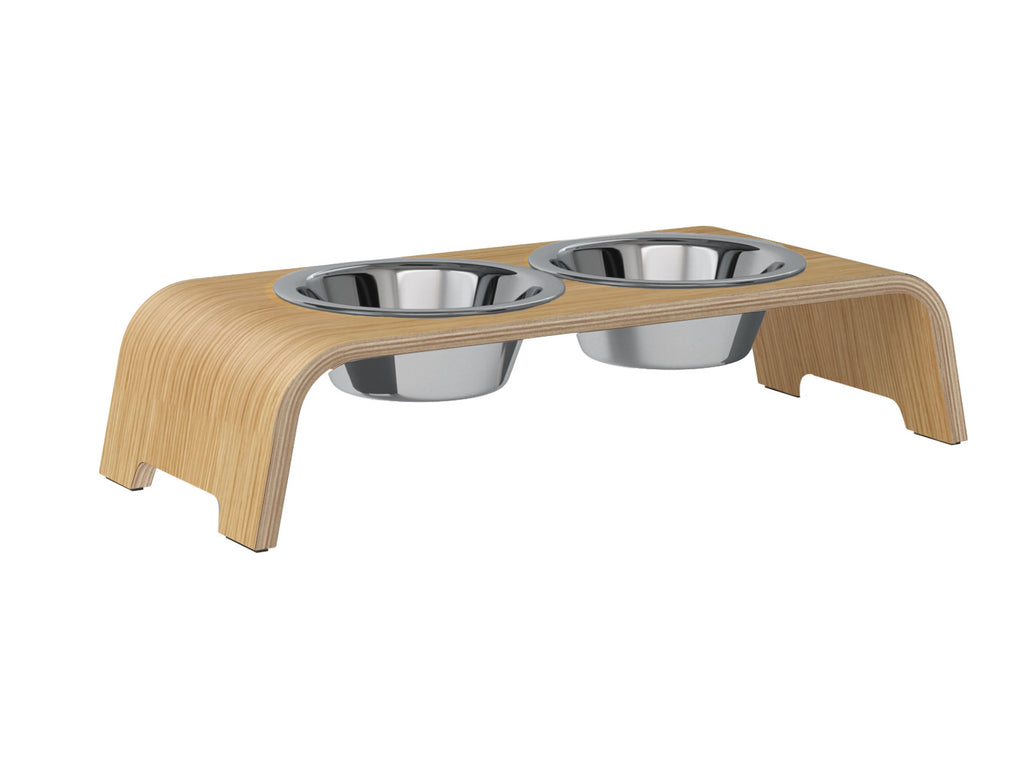 dogBar® S-large - Eiche hell Edelstahl