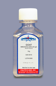 G60 -- Goat IgG Solution >= 97% Purity