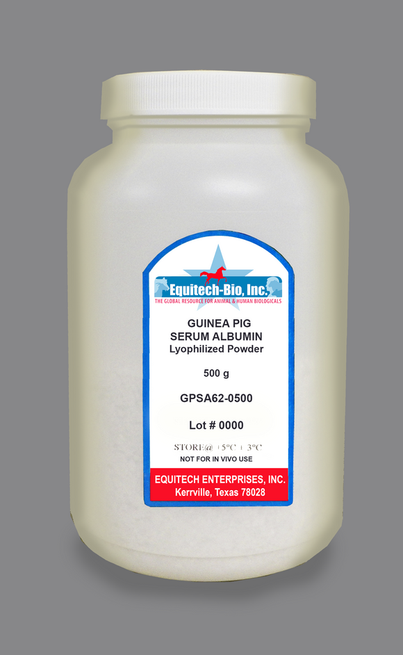 GPSA62 -- Guinea Pig Serum Albumin Lyophilized Powder